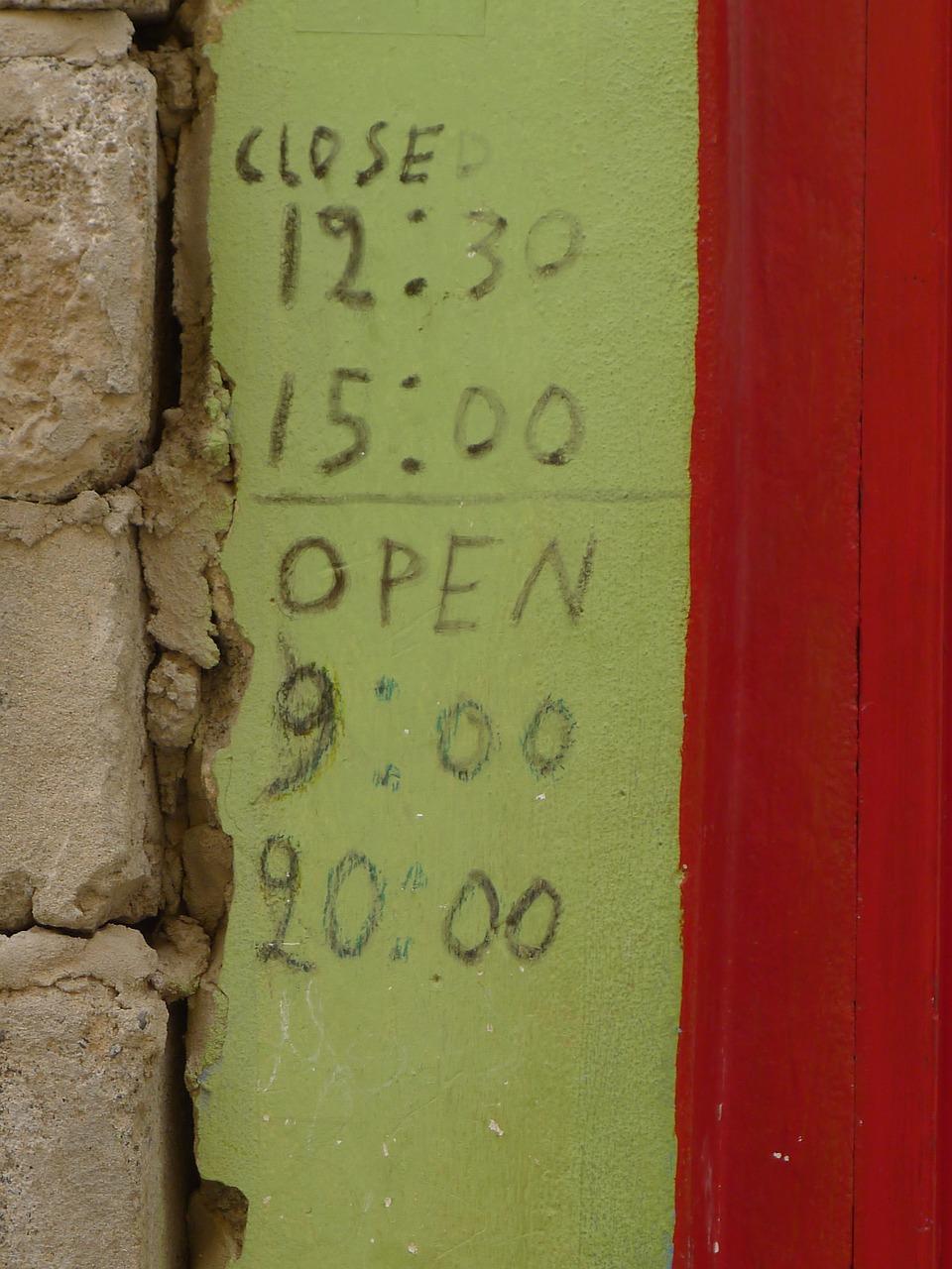 Unsere Öffnungszeiten